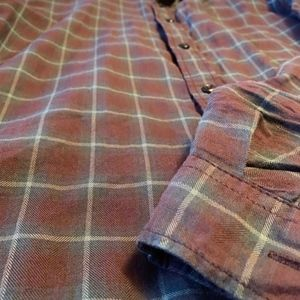 Reserved Shirts - Reserved Mens Plaid Red Button Down Shirt